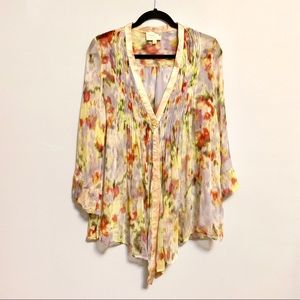 Elizabeth and James Tokyo Silk Floral Top Large